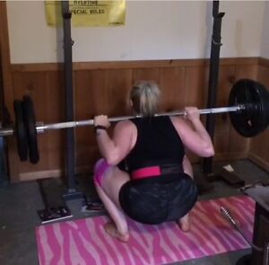 Squat Racks, Barbell and 295lb of weights