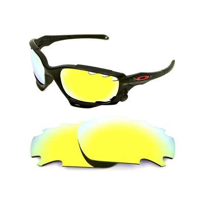 d9a73db755 NEW POLARIZED VENTED 24k GOLD CUSTOM LENS FOR OAKLEY JAWBONE RACING JACKET