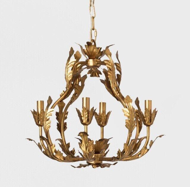 Tole Chandelier Italian Gold - Opalhouse