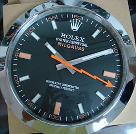 Rolex Milgauss wall clock brand new boxed