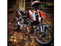 KTM Duke 125cc 2012 full MOT Great Condition