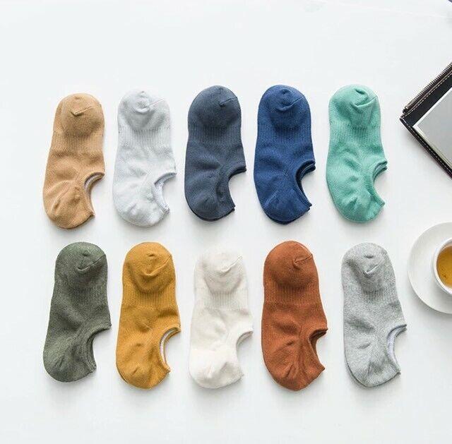 10 Pairs Unisex No Show Low Cut 100% Cotton Socks