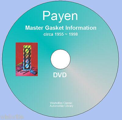 Payen Master Gasket Information DVD rom circa  1955~1998