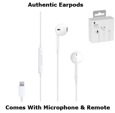 Authentic Apple Lightning Connector Earpods Headphones iPhone 7 Plus 8+ X Remote