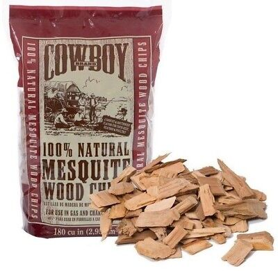 Mesquite Barbecue - Cowboy Brand Wood Chips BBQ Smoking Mesquite Apple Hickory FREE FAST SHIPPING
