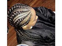 Hairdresser, Stylist, Specialist in box braids, Kim K cornrows, twists, Ghana braids, crochet, weave