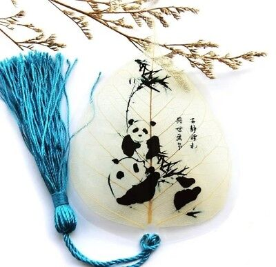 Artistic Panda Real Leaf Veins Bookmark Best Gift for you and for your