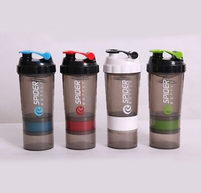 Bottle Shaker Protein Blender Cup Mixer Storage New Gym Twist N Best Lock