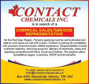 Oil/Gas Specialty Chemical Account Manager for Red Deer Area