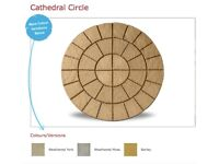 Cathedral Paving Circle 1.8m Garden Feature Available In 3 Colours Only £119.99 Call 0161 962 9127