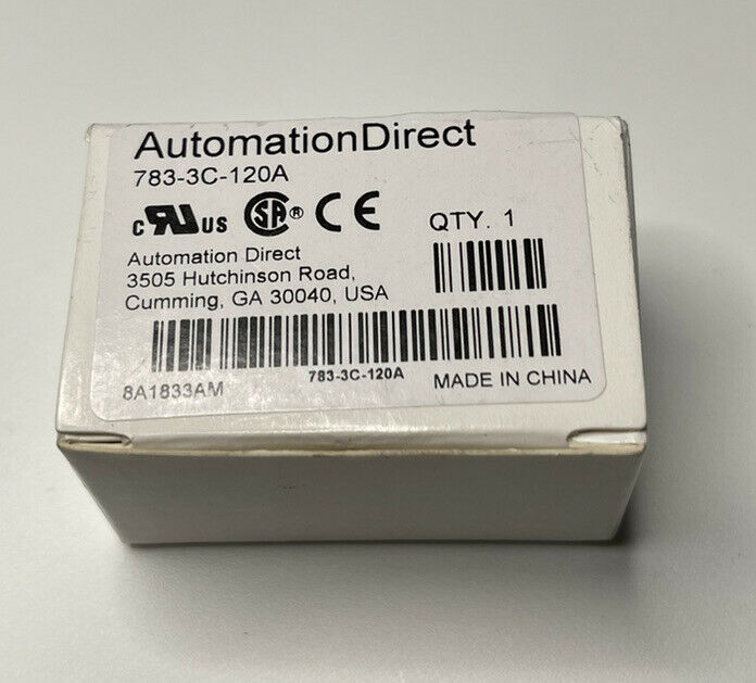 AUTOMATION DIRECT 783-3C-120A RELAY 120VAC (x-114)