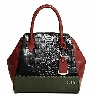 NEW GUESS VERONIA COLORBLOCK SATCHEL BAG HANDBAG PURSE