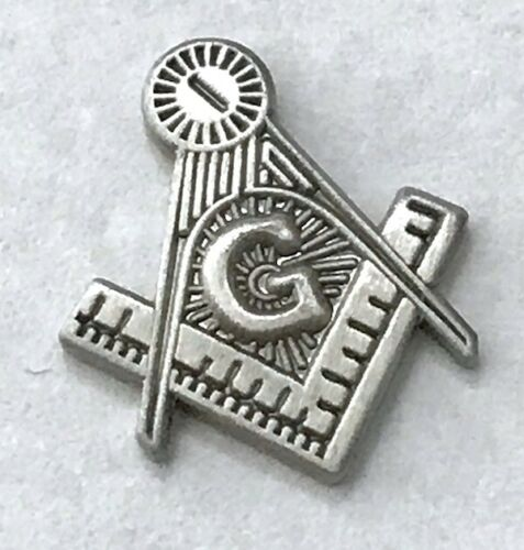 New OLD STOCK Masonic Compass Ruler G Emblem Brushed Stainless Steel 5pc Lot