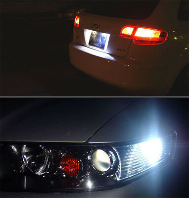 Jtech 10x T10 1.5W LED Super Bright Xenon White PIR Lens Bulb 194 168 2825 W5W