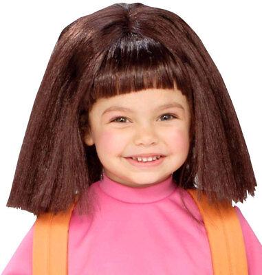 Dora the Explorer Brown Dress Up Child Costume Wig - Dora Halloween Wig