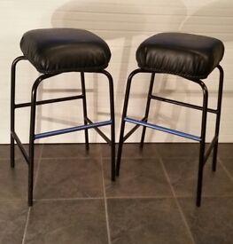 Pair of black stools, new
