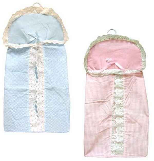 Diaper Stacker w/Hanger Laced Pink Blue Boy Girl New