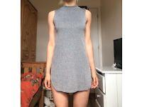 Primark Sexy Grey Slit Dress