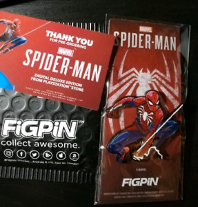 FiGPiN Spider-man Exclusive Pre-order Deluxe Edition PS4