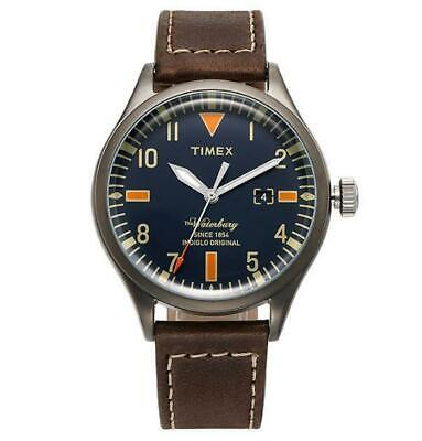 TIMEX TW2P83800 Waterbury Brown Leather Strap Men