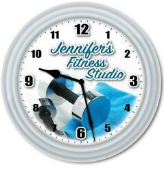 Fitness Studio Wall Clock - Exercise Body Equipment Gym - Personal Trainer GIFT