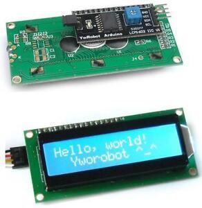 Iic-i2c-twi-Sp-me-interfaz-Serial-1602-16x2-Caracteres-Azul-modulo-LCD-de-pantalla
