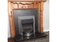 Pine fire surround