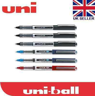 Uni-ball Eye Ub-150 Micro Rollerball Pen Black Ink Pack Of 6blackbluered