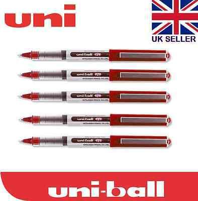 Ub-150 0.5mm Uni-ball Eye Mirco Tip Rollerball Pen Red Ink Set 5
