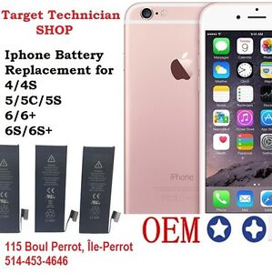 iPhone/Samsung/LG battery replacement Vaudreuil Dorion,Pincourt West Island Greater Montréal image 1