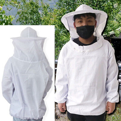 Professional Cotton Full Body Beekeeping Suit With Veil Hood 100-150cm Free Size
