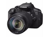 New DSLR Camera Canon 700D ef-s18-135 is stm kit