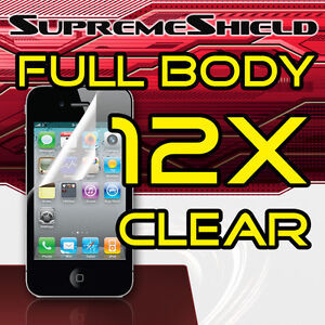 12X-CLEAR-FRONT-BACK-FULL-BODY-Screen-Cover-Shield-Protector-iPhone-4-4S-4G