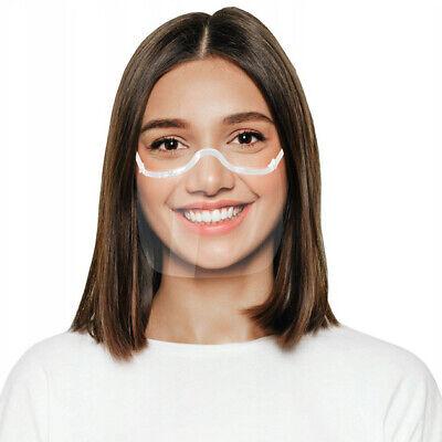 Gesichtsmaske Mund Nasen Visier transparent Gesichtsschutz Gesichtsvisier weiß