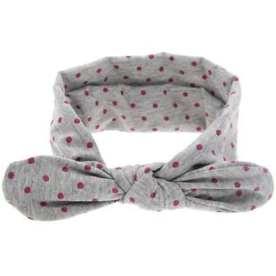 (Baby Fashion Adjustable Rabbit Ears Cloth Elastic Bowknot Headband Grey YT8)