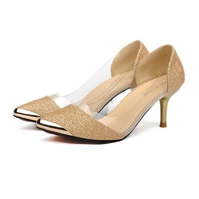 New Sexy Women Casual Pointed Toe Pumps High Heels Party Wedding Shoes Pumps  3