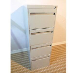 Locking 4 Drawer File Cabinet with Key, Delivered