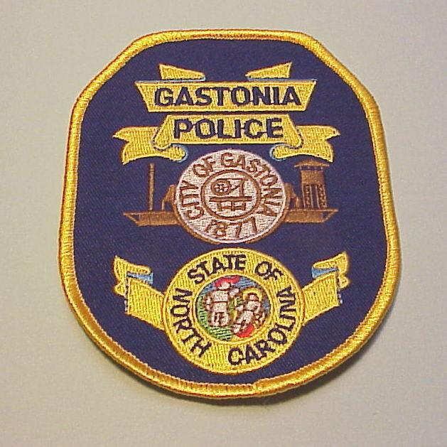 GASTONIA  NORTH CAROLINA  ( GOLD BORDER )  POLICE DEPT. PATCH  FREE SHIPPING!!!