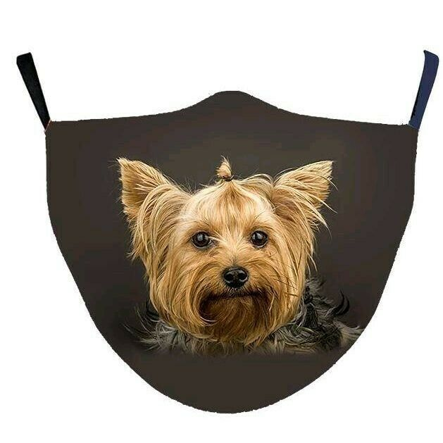 Yorkie Face Mask With Filter - Yorkie facemask
