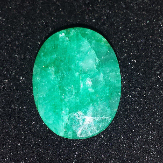 16.92CT Oval Cut Emerald Gemstone, Retail Replacement Value: $1.8K