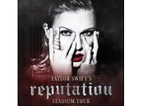 2 x Taylor Swift tickets bk C4 FACE VALUE