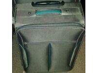 New medium size lightweight suitcase grey volour