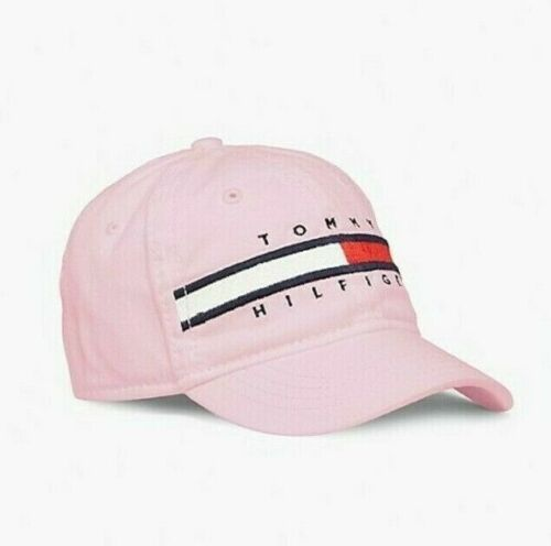 Tommy Hilfiger Kids Girls Designer Flag Logo Cap / Hat Pink Size 4-7