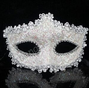 Unisex Sexy Venetian Lace Party Ball Masquerade Masks Paillette Flower 19 styles