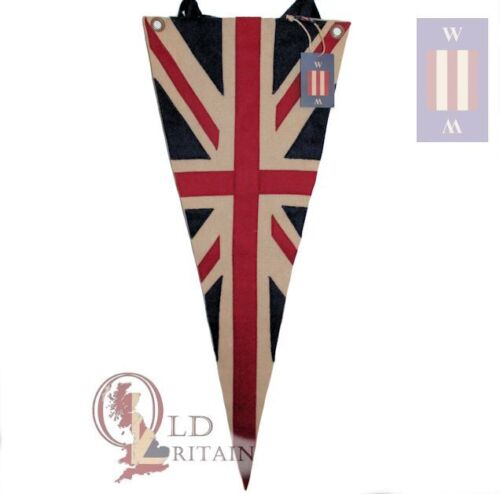 Authentic Wovenmagic Vintage Union Jack Wool Pennant Flag