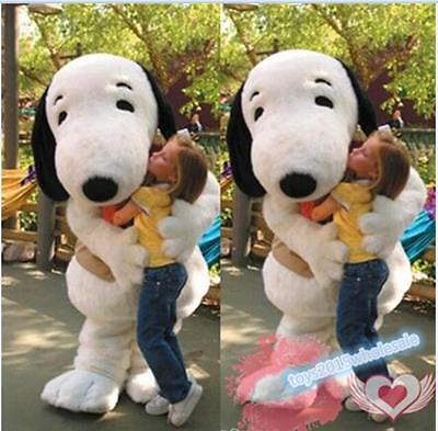 Adult Snoopy Costume (Snoopy White Dog Mascot Costume Cosplay Animal Party Fancy Dress Adults)