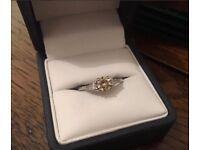 Natural Yellow Diamond 18ct White Gold Ring