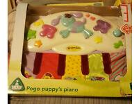 ELC pogo puppy's piano, ideal cot toy