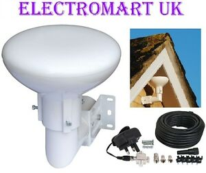 OUTDOOR LOFT OMNI DIRECTIONAL TV DIGITAL FREEVIEW BOOSTER AERIAL 20DB GAIN