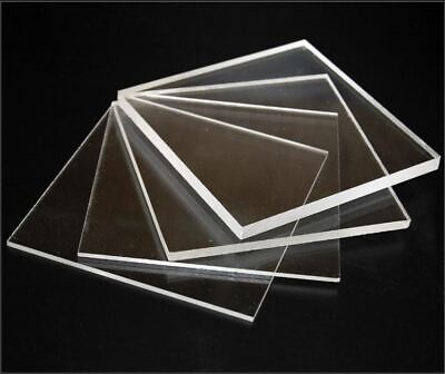 Clear Plastic Acrylic Perspex Sheet Custom Cut To Your Specs Polished Edges!!